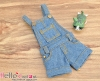 243.【OS-01】B/P Denim Overalls Shorts # Blue