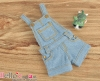 244.【OS-02】B/P Denim Overalls Shorts # Faded Blue