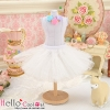 140.【PC-01】Blythe/Pullip Tulle Ball Mini Skirt # White
