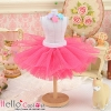 142.【PC-02】Blythe/Pullip Tulle Ball Mini Skirt # Deep Pink