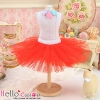 143.【PC-03】Blythe/Pullip Tulle Ball Mini Skirt # Red
