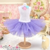 145.【PC-04】Blythe/Pullip Tulle Ball Mini Skirt # Purple