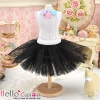 147.【PC-06】Blythe/Pullip Tulle Ball Mini Skirt # Black