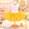 157.【PC-14】Blythe/Pullip Tulle Ball Mini Skirt # Orange