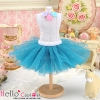 165.【PC-15】Blythe/Pullip Tulle Ball Mini Skirt # Steel Blue