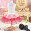 169.【PD-03】Blythe/Pullip Tulle Cake Mini Skirt # Multi-Coloured Deep Pink