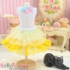 171.【PD-05】Blythe/Pullip Tulle Cake Mini Skirt # Multi-Coloured Yellow