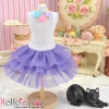 174.【PD-07】Blythe/Pullip Tulle Cake Mini Skirt # Purple