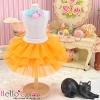 175.【PD-08】Blythe/Pullip Tulle Cake Mini Skirt # Orange