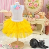 177.【PD-09】Blythe/Pullip Tulle Cake Mini Skirt # Yellow