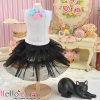 179.【PD-10】Blythe/Pullip Tulle Cake Mini Skirt # Black