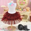 184.【PD-14】Blythe/Pullip Tulle Cake Mini Skirt # Chocolate