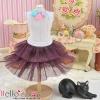 185.【PD-15】Blythe/Pullip Tulle Cake Mini Skirt # Violet