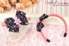 (Pullip)HandMade Custom Hair Band # Bow Bear Deep Pink
