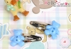 Y137.Mini Hair Pin(Button)x 1 Pairs/Star Blue