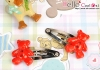 Y139.Mini Hair Pin(Button)x 1 Pairs/Sky Blue