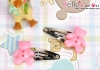 Y144.Mini Hair Pin(Button)x 1 Pairs/Cocoa