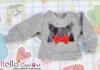 i103.【PR-103】B/P Printing Tee/Puffed Sleeves(Black Cats)# Grey