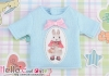 i115.【PR-115】B/P Printing Tee(Rabbit + Bow)# Baby Blue
