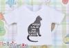i11.【PR-11】B/P Printing Tee(Keep Calm & Love Cats)# White