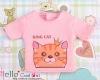i32.【PR-32】B/P Printing Tee(King Cats)# Pink