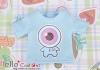 i51.【PR-51N】B/P Printing Tee(Eyeball Baby)# Baby Blue
