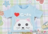 i58.【PR-58】B/P Printing Tee(Love Cats)# Baby Blue