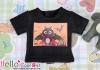 i76.【PR-76N】B/P Printing Tee(Bat Cat)# Black