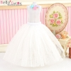 124.【PS-7】Blythe/Pullip Long Tulle Ball Skirt # White