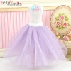 235.【PS-10】Blythe/Pullip Long Tulle Ball Skirt # Purple