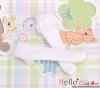 【KS-C08/KS-S29】(B/P) Lace Top Below Knee Socks # White