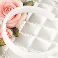 【HB-01S】SD/DD/MDD Simple Hair Band.Soft Flexible (Flat End) # White