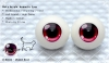 22mm/Meta Acrylic Animetic Eyes (RD-04) Violet Red