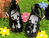 【11-10】B/P Cute Cats Mini Shoes # Shiny Black