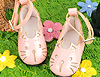 【11-11】B/P Cute Cats Mini Shoes # Shiny Pink