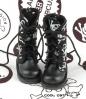 【13-02】B/P Boots.Skeleton Black