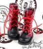 【13-15】B/P Boots.Stripe Red