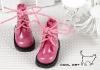 【15-08】B/P Short Shoes.Shiny Deep Pink