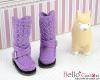 【19-09N】B/P Boots.Purple