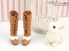 【07-09】B/P High-Heeled Boots.Brown/White