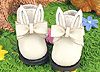 【23-1】B/P Cute Bunny Ears w/Bow Mini Ankle Boots # White