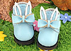 【23-8】B/P Cute Bunny Ears w/Bow Mini Ankle Boots # Sky Blue