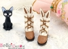 【24-2】B/P Cute Bunny Ears Mini Boots # Brown