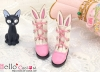 【24-4】B/P Cute Bunny Ears Mini Boots # Deep Pink