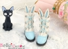 【24-6】B/P Cute Bunny Ears Mini Boots # Sky Blue