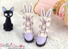 【24-7】B/P Cute Bunny Ears Mini Boots # Violet