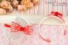 (Blythe)HandMade Custom Hair Band # Bow Red