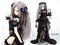 【Secret Cat】Dollfie Dream Sexy Leather Costume # M.Black/Deep Blue