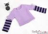 228.【NT-2】Blythe Pullip(Separate Sleeves)Tee # Stripe Purple